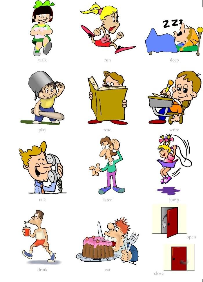 prepositions clip art below