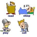 Ejercicios de verbos en inglés