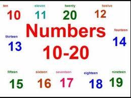 numeros cardinales en ingles