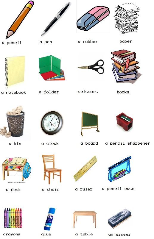 Objetos en ingl s como aprender ingl s bien for 10 objetos en ingles del salon de clases