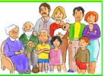 Miembros de la familia en inglés y español