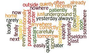 Adverbios de orden en inglés