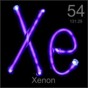 Palabras en inglés con X. Xenon
